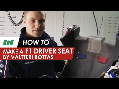 HOW TO...make an F1 drivers seat by F1 driver Valtteri Bottas