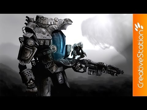 TitanFall - Speed Painting (#Photoshop) | CreativeStation