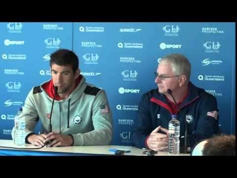 Michael Phelps Bob Bowman pre-meet press conference 2014 Pan Pacs