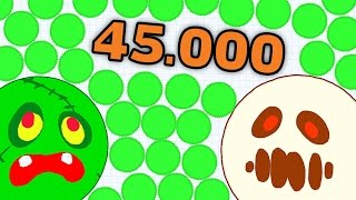 AGAR.IO 45.000 MASS HARDCORE GAMEPLAY - PLAYING AGARIO WITH BROTHER