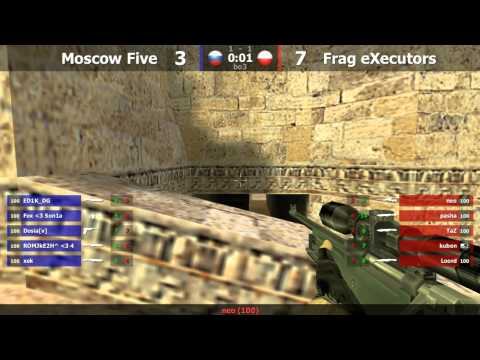 Frag eXecutors vs. MoscowFive @ dust2