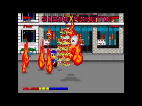Dynamite Düx (Arcade - Sega System 16) - Stage 1 : Down Town