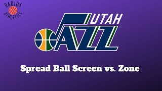 Utah Jazz - Spread Ball Screen vs. Zone