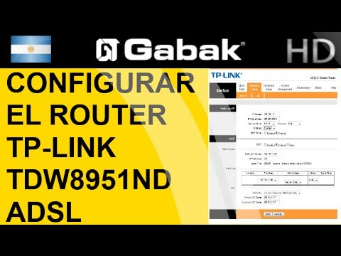 Configuracion adsl router tplink tdw8951nd explicacion basica