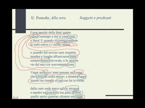 Ugo Foscolo Alla Sera Youtube