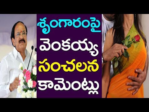 Vice President Venkaiah Naidu Sensational Comments On Romance| Take One Media| Politics | Cinema| AP