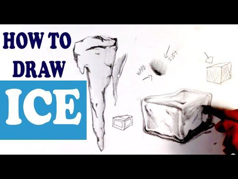 Видео как нарисовать лёд