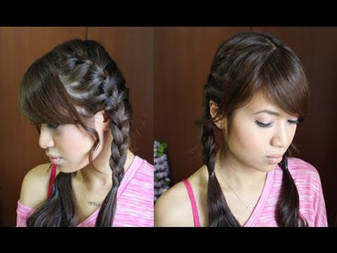 Braid Pigtails Yourself How to French Braid Pigtails
