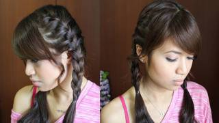 How to: French Braid Pigtails Hairstyle Hair Tutorial