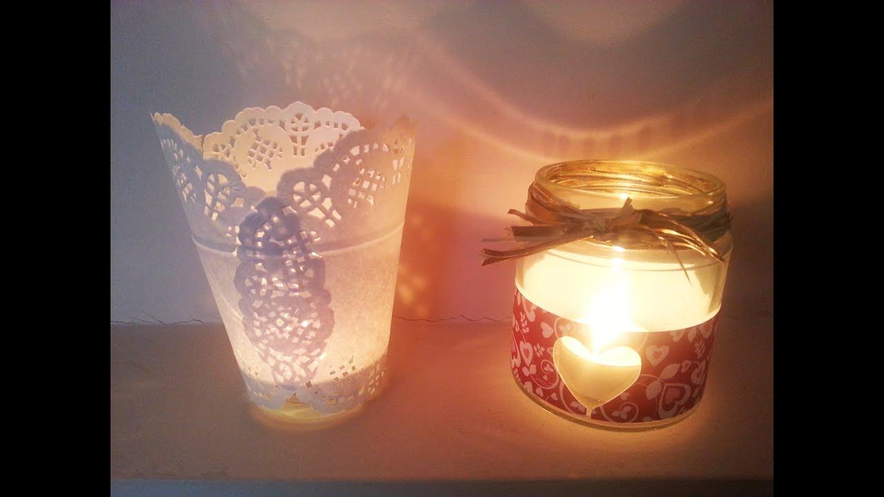 Tutorial da barattoli a portacandele idee per decorare - Decorare candele per natale ...