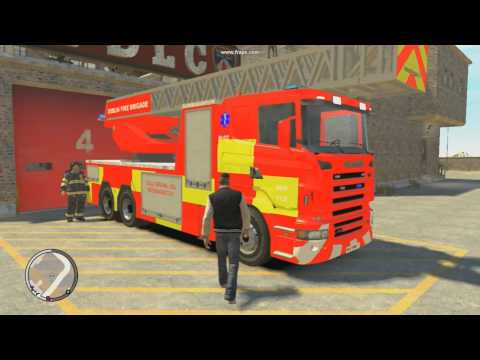 New Dublin Fire Engine Turntable(GTA/EFLC/WIP)