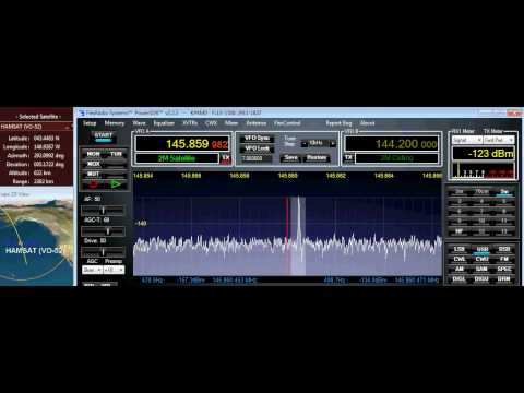 VO-52 (HAMSAT) Pass - Doppler Frequency Shift on CW Beacon #2
