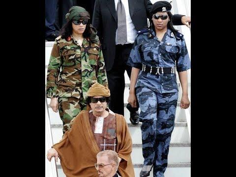 Прикольные фото женщин телохранителей Муаммар Каддафи