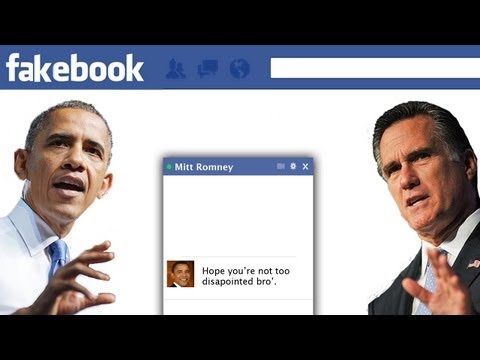 image vidéo Obama tchat avec Romney sur Facebook après l'élection
