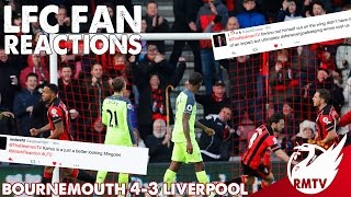 Bournemouth v Liverpool 4-3 | LFC Fan Reactions