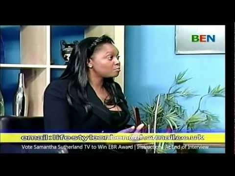 Samantha Sutherland Interviewed on Ben TV (SKY 184) 1st June 12.. Vote SSTV To Win EBR Award