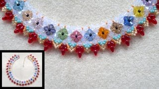Beading4perfectionists : B&B reject #2 :-) Flowers and Grapes necklace beading tutorial