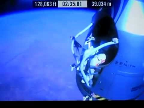 Red Bull Stratos Freefall - Highest Free Fall World Record By Felix Baumgartner