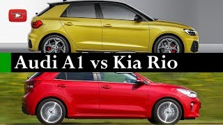 Test Comparativo 2019 Audi A1 Sportback vs 2018 Kia Rio Hatchback Interior Exterior and Drive | 0391