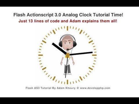 flash clock animation