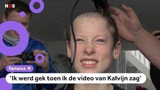 Bram (13) scheert hoofd kaal na video over Kalvijn