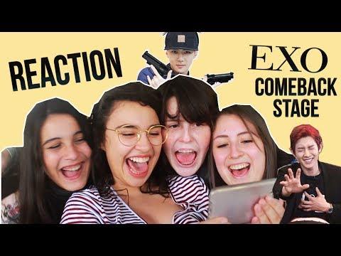 GIRLS REACTING EXO - THE EVE COMEBACK STAGE | ESPECIAL DIA DO AMIGO