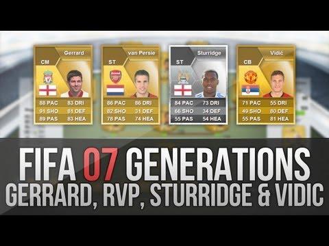 FIFA 07 Generations   Gerrard. Van Persie. Sturridge. Vidić