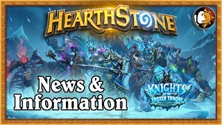 Hearthstone: Knights Of The Frozen Throne Expansion - News & Information