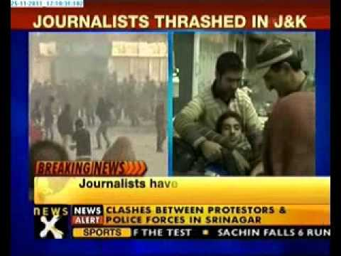 Srinagar clash: Journalist thrashed, 3 injured