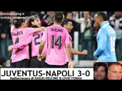 JUVENTUS-NAPOLI 3-0 – Radiocronaca di Giulio Delfino & Livio Forma (1/4/2012) da Radiouno RAI