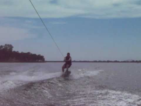 Matt wakeboarding with some air