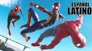 Spider-Man vs. IRON SPIDER vs. Spider-Man FAR FROM HOME | BATALLA ÉPICA! (Español Latino Fandub)
