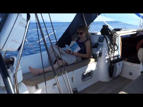 Sailing on a Dufour 40 near Corfu in the Ionian Sea