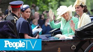 Why Meghan Markle & Harry Stood So Far From Kate Middleton & Prince William On Balcony | PeopleTV