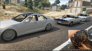 GTA 5 MODS RealDrift S15 , 440 Challenger , Benz S500 w/WheelCam