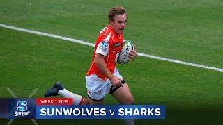 HIGHLIGHTS: 2019 Super Rugby Week 1 Sunwolves v Sharks