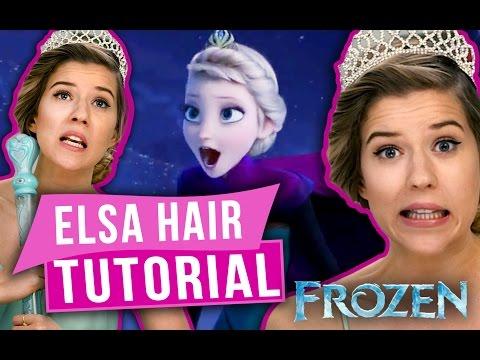 Frozen Hair Tutorial - Elsa Coronation Hair Style