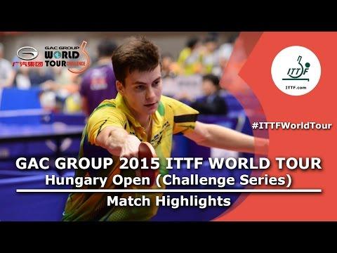 Hungary Open 2015 Highlights: Kenji Matsudaira Vs Antoine Hachard (Round Of 16)