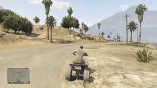 GTA V Xbox 360 - Quad Bike Gameplay