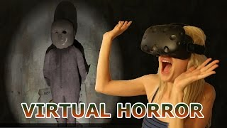 Girlfriend VS Virtual Horror Game - A Chair in a Room - HTC Vive (VR)