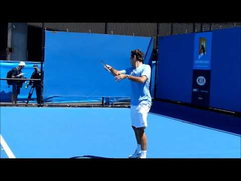 TENNIS - Roger Federer Slow Motion Practice 2013_HD