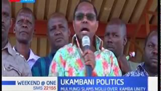 Mwingi central Mp Gideon Mulyungi has slammed Ngilu over Kamba unity