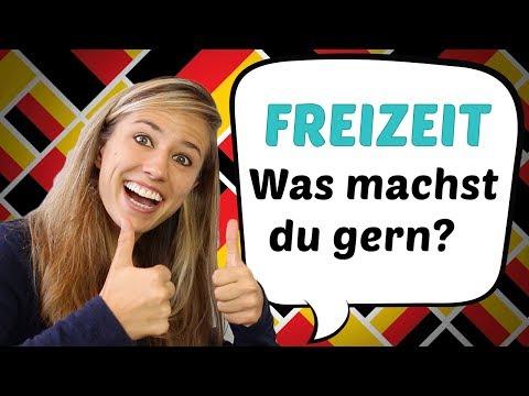 GERMAN LESSON 50: Was machst du in deiner Freizeit? // German freetime Vocabulary