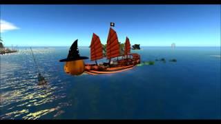 Pirates Destiny Halloween ships parade and ball