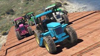 Видео игра гта 5 гонки на тракторах