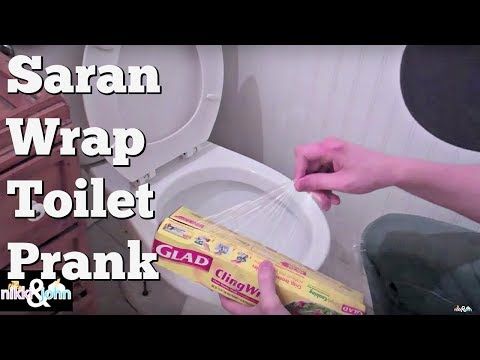 Saran Wrap Toilet Prank video