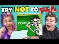 Try Not to Fail Challenge #2 | Back To School Edition
