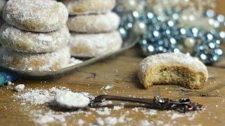 Kourabiedes| κουραμπιέδες | griechische Weihnachts-Kekse| Club of Cooks Adventkalender #13