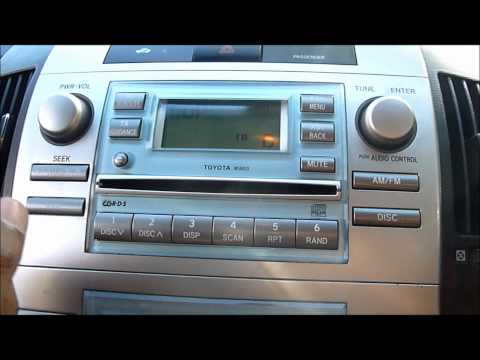 2005 TOYOTA COROLLA VERSO CD PLAYER/STEREO