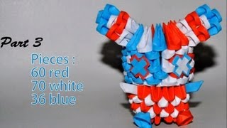 Part 3 Of Origami 3d Tutorial : Striped American Bunny (samy Moussaoui & Simon Valignat)